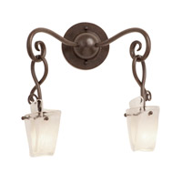 Preston 2 Light 14 inch Tortoise Shell Wall Bracket Wall Light in Frost (FROST) FALL CLEARANCE