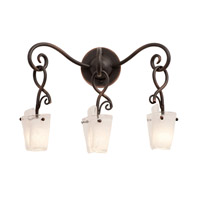Preston 3 Light 18 inch Antique Copper Wall Bracket Wall Light in Frost (FROST) FALL CLEARANCE