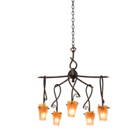 Preston 5 Light 24 inch Tortoise Shell Chandelier Ceiling Light in Flame (FLAME), Antique Copper FALL CLEARANCE