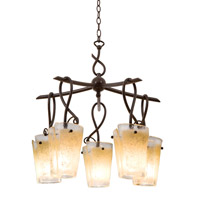Preston 5 Light 28 inch Escalante Chandelier Ceiling Light in ANTQ, Tortoise Shell FALL CLEARANCE