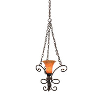 Kalco Amelie 1 Light Mini Pendant in Antique Copper 5520AC/1520