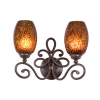 Kalco Lighting Amelie 2 Light Bath Light in Tortoise Shell 5522TO/1586