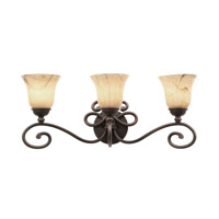 Amelie 3 Light 26 inch Antique Copper Bath Light Wall Light in Neutral Swirl (1239)