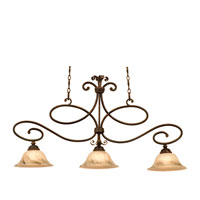 Amelie 3 Light 41 inch Antique Copper Island Light Ceiling Light in Neutral Swirl (1404)