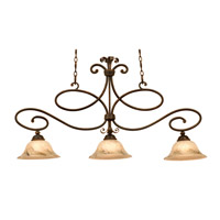 Amelie 3 Light 41 inch Antique Copper Island Light Ceiling Light in Neutral Swirl (7006)