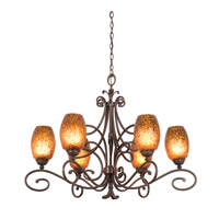Kalco Amelie 6 Light Chandelier in Tortoise Shell 5534TO/1586
