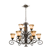Kalco 5535AC/1239 Amelie 9 Light 39 inch Antique Copper Chandelier Ceiling Light in Neutral Swirl (1239) FALL CLEARANCE photo thumbnail
