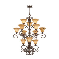 Kalco Lighting Amelie 12 Light Chandelier in Tortoise Shell 5536TO/1404