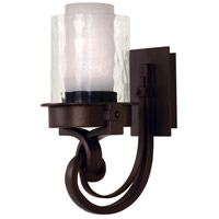 Newport 1 Light 8 inch Satin Bronze Bath Light Wall Light in Without Glass