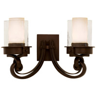 Kalco 5752SZ Newport 2 Light 19 inch Satin Bronze Vanity Light Wall Light in Without Glass