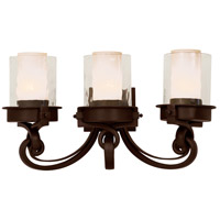 Kalco 5753SZ Newport 3 Light 24 inch Satin Bronze Vanity Light Wall Light in Without Glass