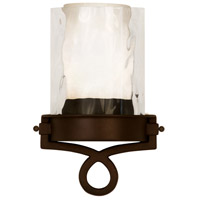 Kalco 5755SZ Newport 1 Light 8 inch Satin Bronze ADA Wall Sconce Wall Light in Without Glass