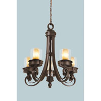 Newport 5 Light 25 inch Satin Bronze Chandelier Ceiling Light in Without Glass