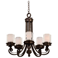Newport 5 Light 33 inch Satin Bronze Chandelier Ceiling Light in Without Glass