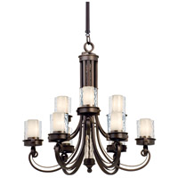 Kalco Lighting Newport 9 Light Chandelier in Satin Bronze 5764SZ