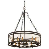 Kalco 5797BZ Morris 12 Light 30 inch Bronze Chandelier Ceiling Light in Without Glass