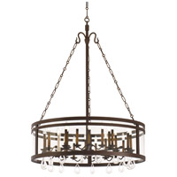 Kalco 5799BZ Morris 24 Light 42 inch Bronze Chandelier Ceiling Light in Without Glass