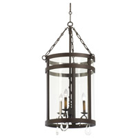 Morris 3 Light 19 inch Bronze Foyer Light Ceiling Light in Without Glass