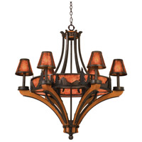 Kalco 5811NI Aspen 6 Light 37 inch Natural Iron Chandelier Ceiling Light