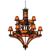 Kalco 5812NI Aspen 9 Light 40 inch Natural Iron Chandelier Ceiling Light