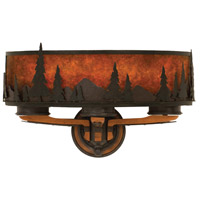 Aspen 3 Light 21 inch Natural Iron Wall Sconce Wall Light
