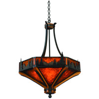 Kalco Aspen 6 Light Pendant in Natural Iron 5817NI