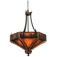Kalco 5817NI Aspen 6 Light 28 inch Natural Iron Pendant Ceiling Light