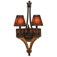 Kalco 5822NI Aspen 2 Light 12 inch Natural Iron Wall Bracket Wall Light