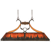 Kalco Lighting Aspen 5 Light Island Light in Natural Iron 5827NI