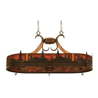 Kalco 5828NI Aspen 6 Light 46 inch Natural Iron Pot Rack Ceiling Light