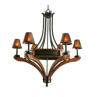 Kalco Aspen 6 Light Chandelier in Natural Iron 5831NI