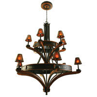Kalco 5832NI Aspen 12 Light 56 inch Natural Iron Chandelier Ceiling Light