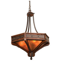 Kalco Lighting Aspen 6 Light Pendant in Natural Iron 5837NI