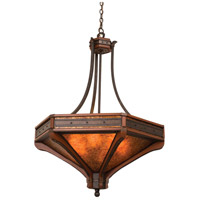 Kalco 5838NI Aspen 6 Light 36 inch Natural Iron Pendant Ceiling Light