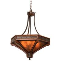 Kalco 5838NI Aspen 6 Light 36 inch Natural Iron Pendant Ceiling Light