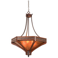 Kalco 5839NI Aspen 6 Light 42 inch Natural Iron Pendant Ceiling Light