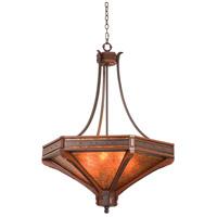 Kalco 5839NI Aspen 6 Light 42 inch Natural Iron Pendant Ceiling Light
