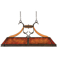Kalco Lighting Aspen 5 Light Island Light in Natural Iron 5847NI