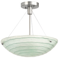 Aqueous 3 Light 15 inch Satin Nickel Semi Flush Mount Ceiling Light in MB
