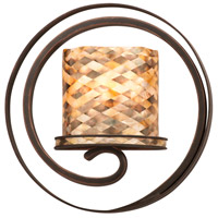 Monaco 1 Light 14 inch Satin Nickel Wall Sconce Wall Light in SHELL, Antique Copper
