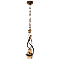 Kalco Lighting Monaco 1 Light Mini Pendant in Antique Copper 6016AC/SHELL