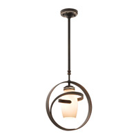 Monaco 1 Light 14 inch Tortoise Shell Mini Pendant Ceiling Light in Monaco Opal Pearl (PEARL), Antique Copper