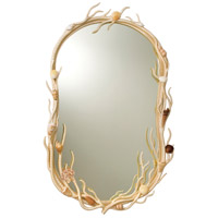 Atlantis 34 X 22 inch Coral Wall Mirror, Oval