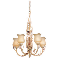 Kalco Atlantis 5 Light Chandelier in Coral 6077CR