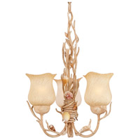 Kalco 6078CR Atlantis 3 Light 15 inch Coral Chandelier Ceiling Light