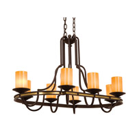 Kalco Durango 8 Light Chandelier in Tawny Port 6098TP-2/1502