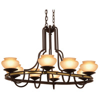Durango 8 Light 47 inch Tawny Port Chandelier Ceiling Light in Linen (LINEN)