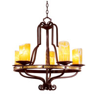Durango 5 Light 28 inch Tawny Port Chandelier Ceiling Light in Calcite (CALC)