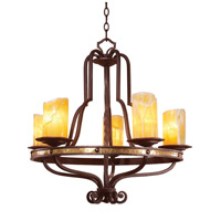 Durango 5 Light 28 inch Tawny Port Chandelier Ceiling Light in Linen (LINEN)