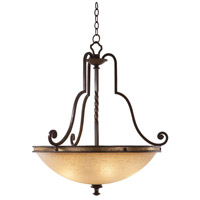 Kalco 6107TP-2/LINEN Durango 5 Light 29 inch Tawny Port Pendant Ceiling Light in Antique Linen